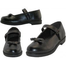 S5004-G - Wholesale Big Girls Mary Janes Black School Shoe ( *Black Color )
