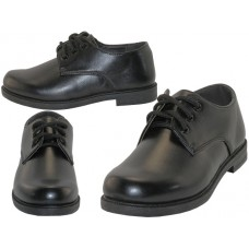 S5005-B - Wholesale Big Boy's Black Lace Up School Shoe ( *Black Color )