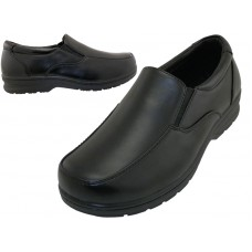 "S5007-B - Wholesale Boy's ""EasyUSA"" Slip on Dress Shoes & School Shoes ( *Black Color )"