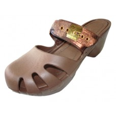S5800G-Z Wholesale Girl's Wedge Clog Sandals ( *Bronze Color )