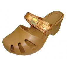 S5800G-Gold Wholesale Girl's Wedge Clog Sandals ( *Gold Color )