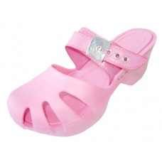S5800G-Pink Wholesale Girl's Wedge Clog Sandals ( *Pink Color )