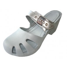 S5800G-S Wholesale Girl's Wedge Clog Sandals ( *Silver Color )