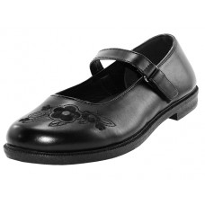 S6003-Y - Wholesale Youth's Black Mary Jane School shoes ( *Black Color )