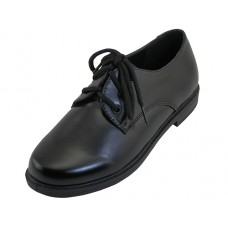 S6005-Y - Wholesale Youth's Black School shoes With Lace Upper ( *Black Color )