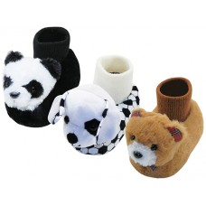 S612C-A - Wholesale Children Novelties Animals Head Slippers (Asst. Lovely Panda, Cute Dog & Teddy Bear)
