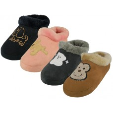 "S6631-C - Wholesale Children's ""EasyUSA"" Warm And Comfortable Animal Emb.House Slippers ( *Asst. Color )"