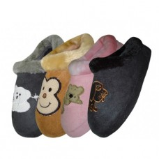 S6631-C - Wholesale Children's Animal Emb.House Slippers ( *Asst. Color )