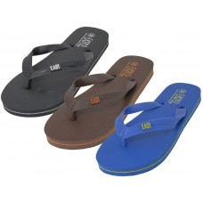 "S8069-Y - Wholesale Youth ""EasyUSA"" Soft Comfortable Rubber ZorI / Flip Flops ( *Asst. Black Navy & Brown )"