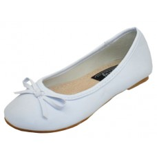 S8300C-W Wholesale Youth's  Ballerina Flat Shoe ( *White Color )