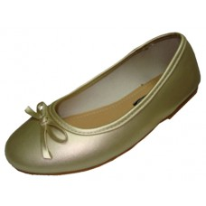 "S8300-I-G Wholesale Children's ""EasyUSA"" Comfortable Ballerina Shoes ( *Gold Color )"