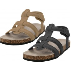 S907B- Wholesale Boy's Pu Man Make Leather Upper Slide Sandals ( *Asst. Black & Beige )