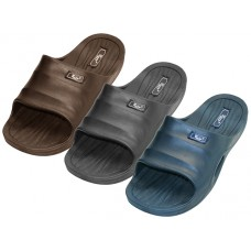 "S9925-B - Wholesale Boys' ""EasyUSA"" Rubber Sport Shower Slides ( *Asst. Black Navy & Brown )"