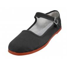 "T2-114C-Black - Wholesale Youth's ""EasyUSA"" Classic Cotton Upper Mary Janes Shoe ( * Black Color )"