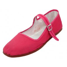 "T2-114C-F Wholesale Youth's ""EasyUSA"" Cotton Upper Classic Mary Jane Shoes ( *Fuchsia Color )"