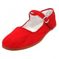 "T2-114C-R Wholesale Youth's ""EasyUSA"" Cotton Upper Classic Mary Jane Shoes ( *Red Color )"