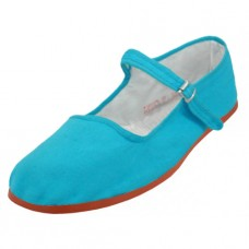 "T2-114C-Q Wholesale Yoth's ""EasyUSA"" Cotton Upper Classic Mary Jane Shoes ( *Turquoise Color )"