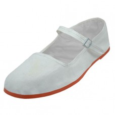 "T2-114C-W Wholesale Youth's ""EasyUSA"" Cotton Upper Classic Mary Jane Shoes ( *White Color )"