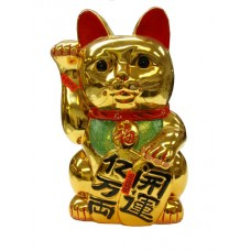 "G-9016 - Wholesale 16"" Golden Lucky Cat Figurine Saving Bank"