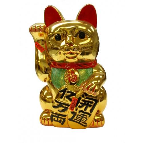 G 9016 Wholesale 16 Quot Golden Lucky Cat Figurine Saving Bank