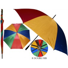 M600-A - Wholesale 46 Inches Diameter With 8 Double Ribbed Jumbo Rainbow Umbrella