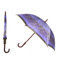 M700 - Wholesale Women's 40 Inches 8 Ribbed Diameter Cane Printed Umbrella ( Asst. Color)