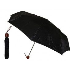 M833-B Wholesale Women's 37 Inches Super Mini Tri-Fold Umbrella ( *Black Color )