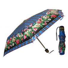 M844 - Wholesale Women's 37 Inches Super Mini Tri-Fold Flower Print Umbrella ( *Asst. Print )