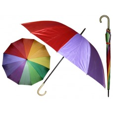 "M900-Rainbow - Wholesale Rainbow 49"" Diameter 12 Ribbed Jumbo Umbrella *Last 4 Case"