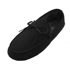 M080004-B Wholesale Men's Leather Upper Moccasin Insulated Shoes ( *Black Color )