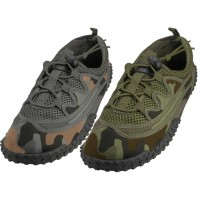 "M1165 - Wholesale Men Camouflage Lace Up ""Wave"" Water shoes ( *Asst. Color )"