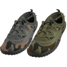 "M1165 - Wholesale Men Camouflage Lace Up ""Wave"" Water shoes ( *Asst. Green Camo. And Gray Camo. )"