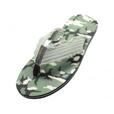 M1170 - Wholesale Men's Camouflag Thong Sandals (Closeout $1.25/Pr. Case $60.00)
