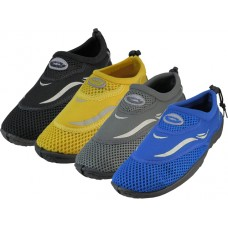"M1182 - Wholesale Men's ""Wave"" Water Shoes ( *Asst. All Black, Royal Blue, Gray And Black/Yellow )"
