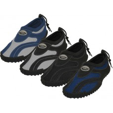 "M1185 - Wholesale Men's ""Wave"" Nylon Upper Out Door Sport Water Shoes ( *Asst. All Black, Navy/Gray, Black/Lt. Gray And Black/Royal Blue ) *Available In Single Size"