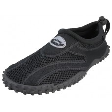 "M1185-BB - Wholesale Men's  ""Wave"" Nylon Upper Out Door Sport Water Shoes ( *All Black Color )"