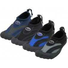 "M2285 - Wholesale Men's ""Wave"" Barefoot Water Shoes. ( *Asst. All Black. Navy/Gray, Black/Royal And Black/Gray )"