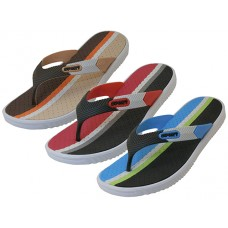 "M7716 Wholesale Men's ""Real"" Sport 3 Tone Color Sandals ( *Black/Blue, Beige/Brown & Black/Red )"