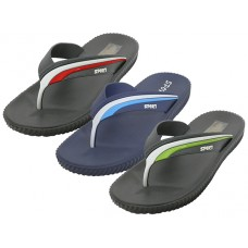 "M7718 - Wholesale Men's ""Real"" Soft Comfortable Sport Thong Sandal ( * Asst. Color: Green, Red & Blue )"