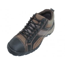 "N5107 - Wholesale Men's ""Himalayans"" Hiker Ankle Height Insulated Leather Sneakers ( * Black/Brown  Color ) *Last Case"