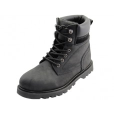 "N6110 - ""Himalayans"" Men's 6 Inches *Steel Toe Insulated Leather Upper Work Boots ( *Black Color )"