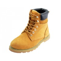 "N6210 - Wholesale Men's "" Himalayans "" 6 Inches Insulated Tan Nu-Buck Leather Upper Work Boots ( *Tan Color )"
