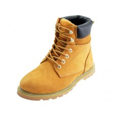 "N6210 - Wholesale Men's "" Himalayans "" 6 Inches Insulated Tan Nu-Buck Leather Upper Work Boots ( *Tan Color ) *Available In Single Size"