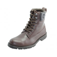 "N6307 - Wholesale Men's ""Himalayans"" 6.5 Inches Insulated Brown Leather Upper Work Boots ( *Dark Brown Color ) *Last 3 Case"