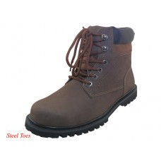 "N6310-S - Wholesale Men's ""Himalayans"" 6 Inches Insulated Brown Nubuck Leather Upper With Steel Toe Work Boots ( *Brown Nubuck ) *Last 3 Case"