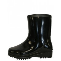 """RM-79 -Wholesale Men's """"EasyUSA"""" 8 Inches Angle Height Water Proof Soft Rubber Rain Boots ( *Black Color  ) *Last 3 Case"""