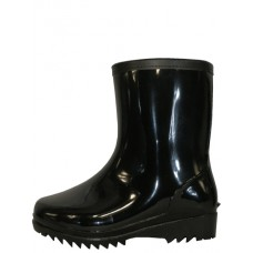 RM-79 -Wholesale Men's 8 Inches Angle Height Water Proof Soft Rubber Rain Boots ( *Black Color  )