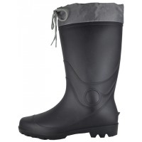 RM-99 - Wholesale Men's 13½ Inches Water Proof Rubber Rain Boots With Nylon Tie Upper ( *Black Only )