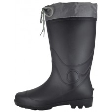 RM-99 - Wholesale Men's 13½ Inches Water Proof Soft Rubber Rain Boots With Nylon Tie Upper ( *Black Only )
