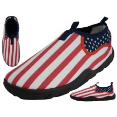 S1172M - Wholesale Men's US Flag Printed Water Shoes ( *Asst. Size )